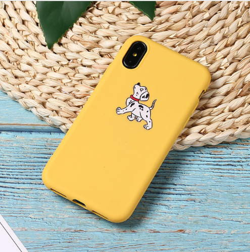 Cute Cartoon Lazy Cats Spotty Dog Corgi Puppy Soft Matte Phone Case Fundas For iPhone 7Plus 7 6Plus 6 6S 5SE 8 8Plus X XS Max 101